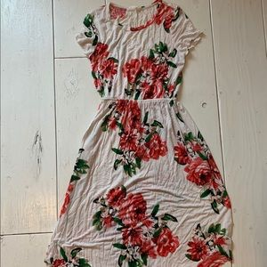 Reb and J 220 Floral pocket dress.